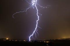 Lightning storm over Prague, Czech republic royalty free stock image