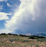 Lightning storm rolling over the Ute Trail, Rocky Mountain National Park, Colorado Royalty Free Stock Image