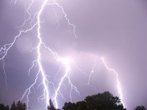 Lightning Storm / Romania. Lightning in Campina City Romania Royalty Free Stock Images