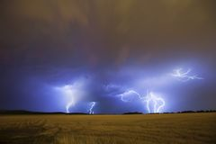 Lightning storm Stock Photos