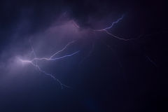 Lightning storm Stock Photography
