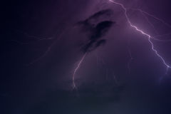Lightning storm Royalty Free Stock Photos