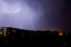 Lightning in stormy sky Royalty Free Stock Images