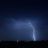 Lightning in a stormy sky Stock Photos