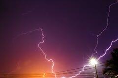 Lightning streaks Stock Image