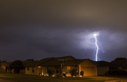 Lightning Strike. Neighborhood lightning strike stock photo