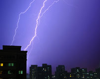 Lightning strike Stock Photography