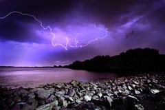 Lightning Strike. Lightning Storm in Adelaide, South Australia Royalty Free Stock Photos
