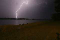 lightning strike Στοκ φωτογραφίες με δικαίωμα ελεύθερης χρήσης