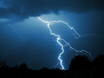 Lightning strike Royalty Free Stock Photo