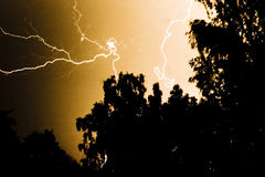 Lightning strike  Royalty Free Stock Photos