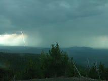 Lightning Strike. A bolt of lightning strikes the ground during a thunderstorm in Oregon's high desert Stock Photos