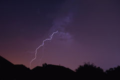 Lightning Strike. Electrical storm in Central Florida Royalty Free Stock Image