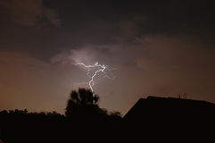 Lightning Strike. Electrical storm in Central Florida Royalty Free Stock Photography