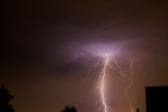 Lightning Strike. Thundering Royalty Free Stock Photography