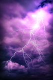 Lightning strike Stock Images