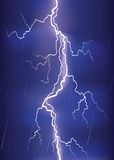 Lightning strike on dark blue sky. Royalty Free Stock Photos