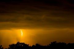 Lightning strike on the dark sky Royalty Free Stock Images