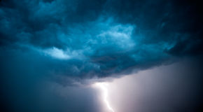 Lightning strike Royalty Free Stock Images