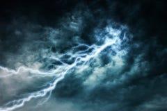 Lightning strike during Royalty Free Stock Photo
