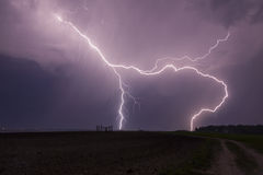 Lightning Strike. Enjoy the very true lightnings Royalty Free Stock Photos