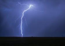 Lightning Strike on a Farm Royalty Free Stock Photo