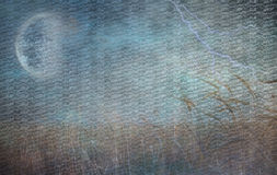 Lightning Strike and Field of grain. Heavily Textured Lightning Strike and Field of Grain Stock Images