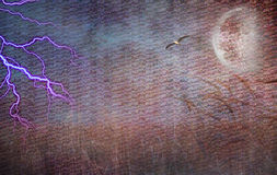 Lightning Strike and Field of grain. Heavily Textured Lightning Strike and Field of Grain Stock Photos
