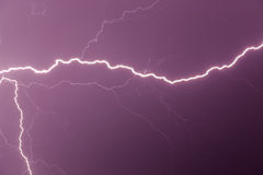 Lightning strike. In the night sky Royalty Free Stock Photo