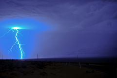 Lightning strike Stock Photos