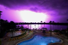 Lightning Strike in Orlando, Florida royalty free stock image