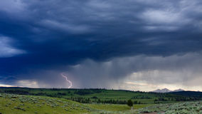 Lightning Strike and Storm Clouds Royalty Free Stock Photo