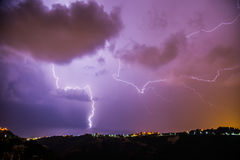 Lightning strike Stock Image