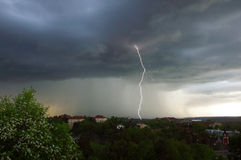 Lightning strike in Sweden Royalty Free Stock Images