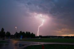 Lightning strike in Sweden Stock Photos