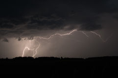Lightning strike in Sweden Royalty Free Stock Photography