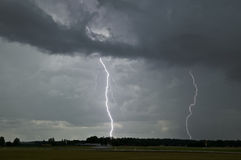 Lightning strike in Sweden Stock Photography