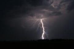 Lightning strike in Sweden Stock Photo