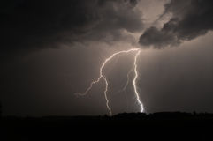 Lightning strike in Sweden Royalty Free Stock Image