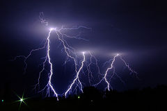 Lightning strikes Stock Photos