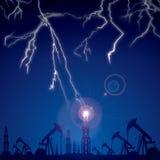 Lightning strikes. Stock Photo