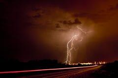 lightning strikes Στοκ φωτογραφία με δικαίωμα ελεύθερης χρήσης