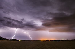 Lightning Strikes Stock Photo