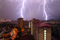 Lightning Strikes Royalty Free Stock Images