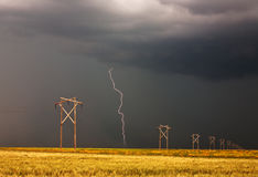 Lightning striking Stock Images