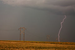 Lightning striking Stock Image