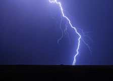 Lightning Striking Power Lines Royalty Free Stock Photos