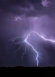 Lightning Striking Power Lines Royalty Free Stock Image