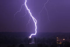 Lightning striking a tree Stock Photography