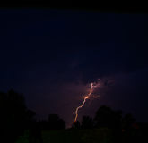 Lightning. The lightning struck the house.thunder Royalty Free Stock Images